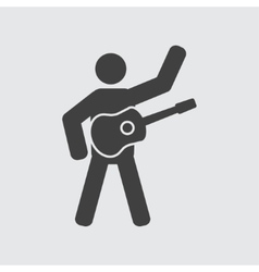 Guitarist icon vector image