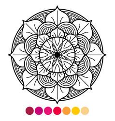mandala coloring page for adults antistress vector image vector image