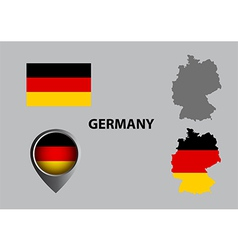Map of Germany and symbol vector image