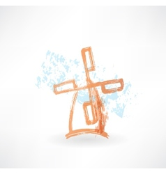 Orange mill grunge icon vector image vector image