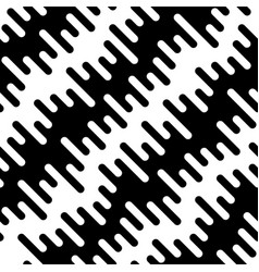 black and white diagonal wavy irregular rounded vector image vector image