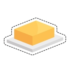 butter delicious isolated icon vector image vector image