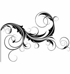 Flourish element vector