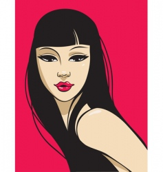 hot beauty vector image