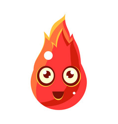 red fire element in flamesegg-shaped cute vector image