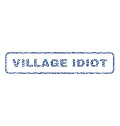 village idiot textile stamp vector image vector image