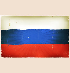 vintage russian flag poster background vector image vector image