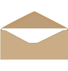 Brown envelope vector image vector image