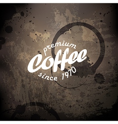 coffee grunge poster vector image vector image