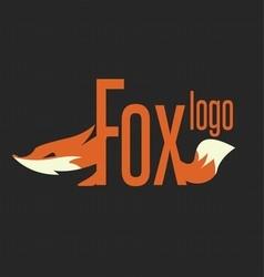 fox logo text vector image vector image