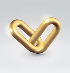 Golden chain links vector image