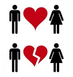 romantic relationships vector image vector image