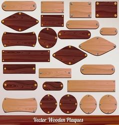 Set Wooden labels vector image
