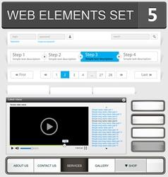 web elements set 5 vector image vector image