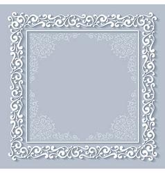 Chriasmas ornate frame vector image