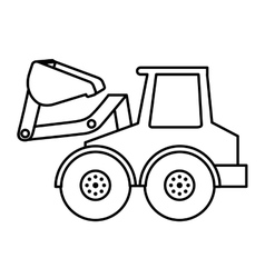 excavator isolated icon design vector image vector image