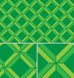 Green Chevron vintage seamless pattern vector image vector image