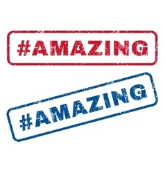 Hashtag Amazing Rubber Stamps vector image