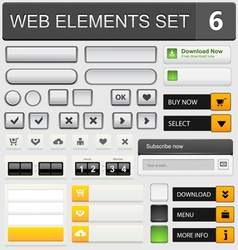Web elements set 6 vector image