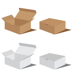 White and brown box packaging Packaging Design Box vector image vector image