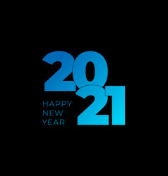 2021 happy new year banner with colorful numbers vector image