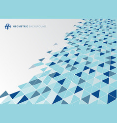 abstract blue geometric triangle structure vector image vector image