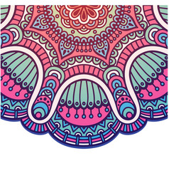 Abstract mandala vintage flower design imag vector