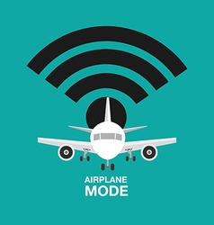 airplan mode design vector image