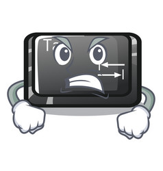 Angry tab button attached to cartoon keyboard vector