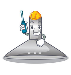 Automotive kitchen hood cartoon the for cooking vector