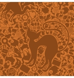 Background of the veterinary icons vector
