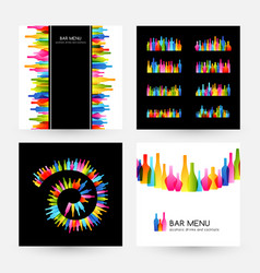 bar menu design collection dividers spiral decor vector image