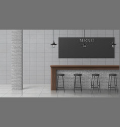 Bar or pub minimalistic design interior vector