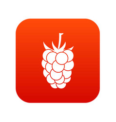 blackberry fruit icon digital red vector image