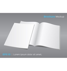 Blank opened magazine or brochure mockup vector