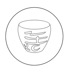bowl icon in outline style isolated on white vector image