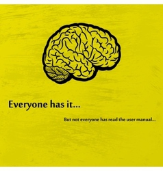 Brain black vector