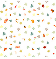 bright seamless pattern with colored autumn leaves vector image
