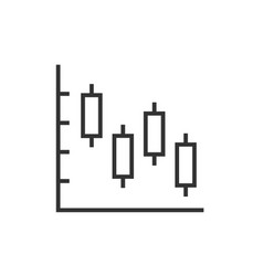 candle stick chart icon vector image
