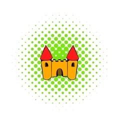 Castle icon comics style vector image