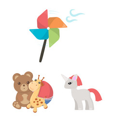 children toy cartoon icons in set collection for vector image