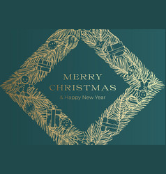 Christmas greetings banner or cover vector