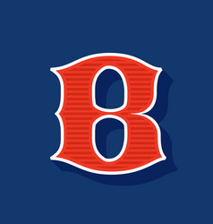 Classic style b letter sport logo vector