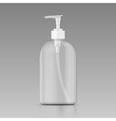 Clean liquid soap bottle template vector image