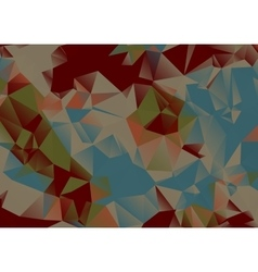 Colorful polw poly background vector image