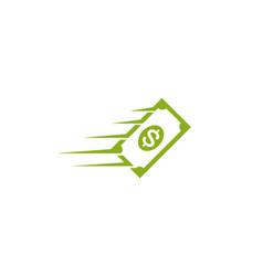 creative dollar speed logo design symbol vector image