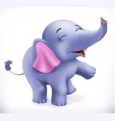 Cute baelephant cartoon character funny vector