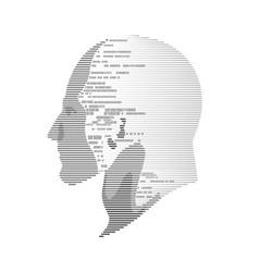 digital head vector image