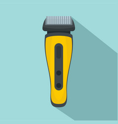 Electric beard razor icon flat style vector