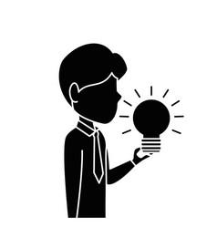 executive person with idea vector image